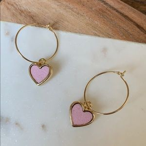 BOGO! Simple Sweet Pink Heart Earrings